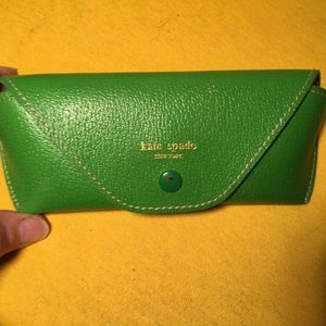 Kate Spade Green Leather Sunglass Eyeglass Case